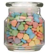 tea party games jar of candy -     You can also place a clear jar filled with some type of candy (gum balls, tootsie rolls, skittles etc.) and have them guess how many are in there. At the end whoever was closest gets to take it home!