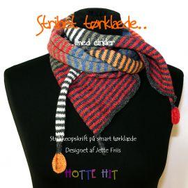 stribet tørklæde