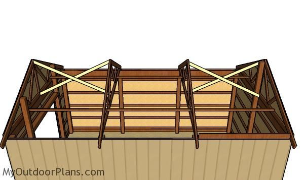 16x24 Pole Barn Roof Plans Myoutdoorplans Free Woodworking Plans And Projects Diy Shed Wooden Playhouse Pergola Bbq Barn Roof Roof Plan Pole Barn