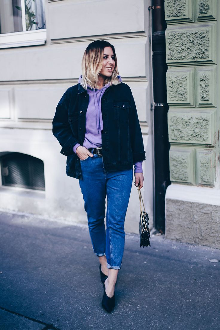 hoodie trend 2017 how to wear lila hoodie modeblog mom. Black Bedroom Furniture Sets. Home Design Ideas