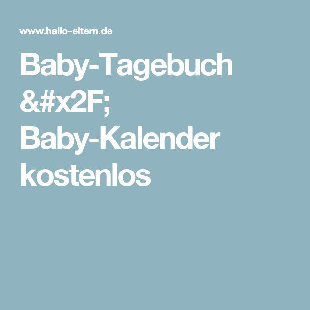Baby-Tagebuch / Baby-Kalender kostenlos