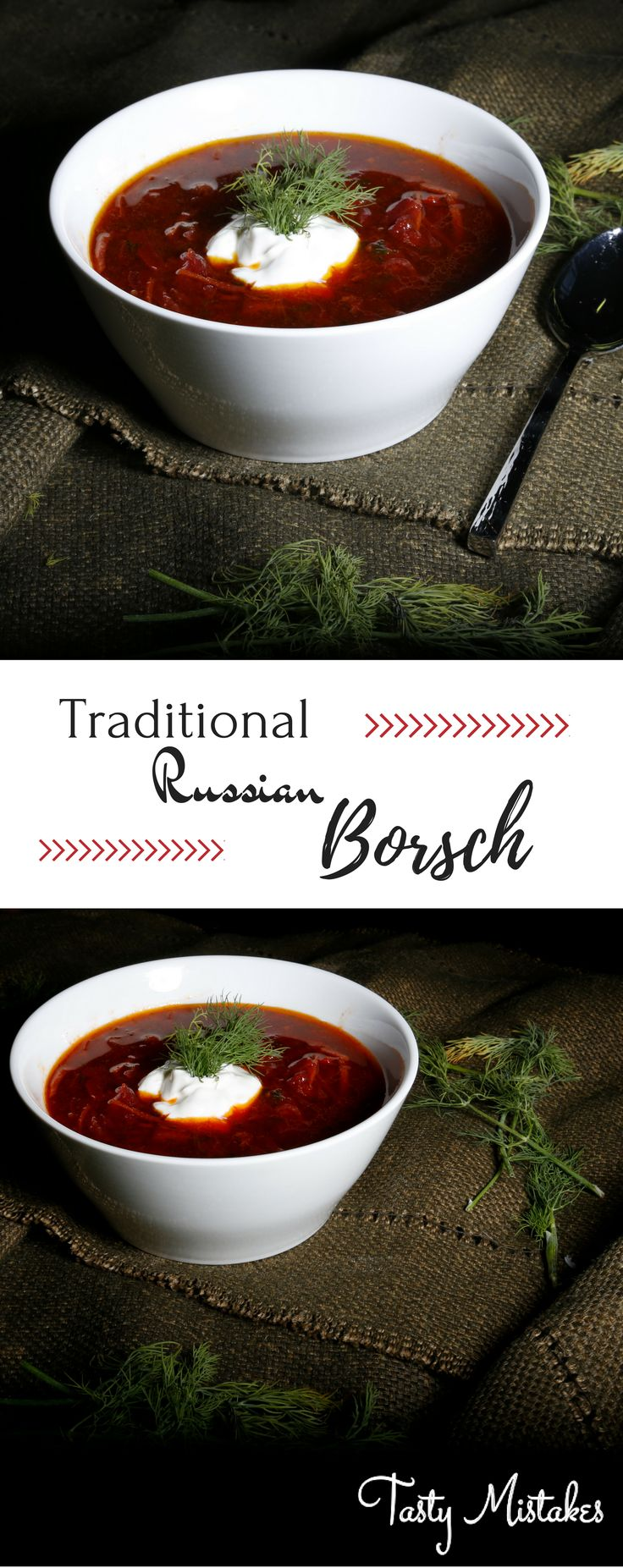 Authentic Russian Borsch recipe. After living in Russia for 7 years, this is my take on an amazing and traditional soup :)