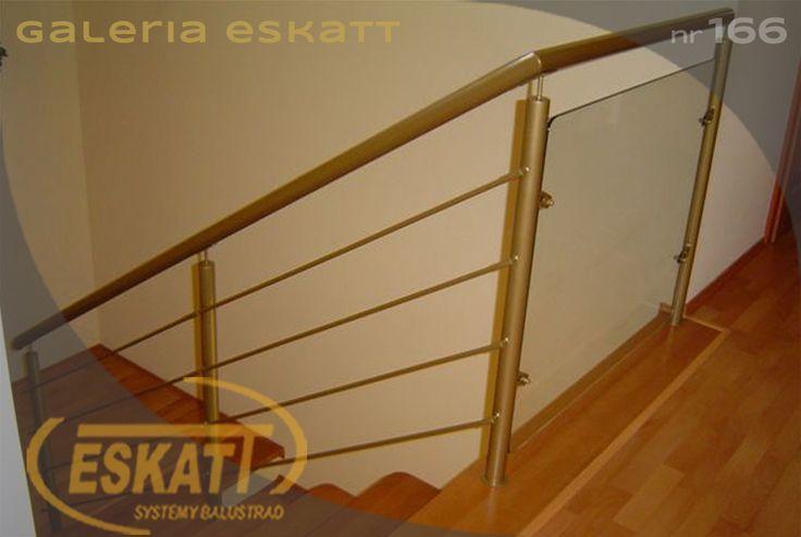 Stainless steel glass balustrade with horizontal filling #balustrade #eskatt #construction #stairs