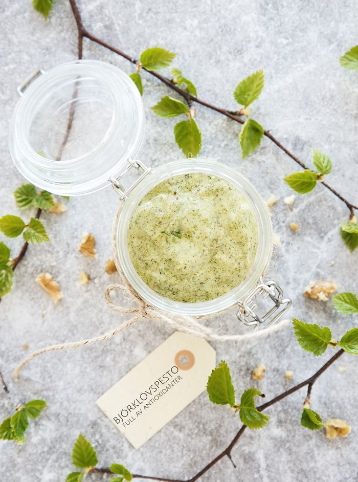 (Birch leaf pesto, for english text scroll down) Följ Scandinavian Wellness på Instagram och Facebook ♥ God morgon alla. Visste att Sverige är helt fantastiskt när det kommer till läkande växter?…