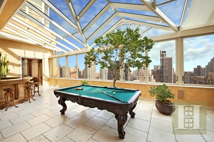 Wouldn't you love this amazing atrium style entertainment space with custom flooring, beautiful wood bar from Costa Rica, imported German wrought iron doors, and a view to die for.  http://www.halstead.com/sale/ny/manhattan/upper-eastside/120-east-87th-street/condo/1836662Condo, Wrought Iron Doors, Entertainment Spaces, Dreams, Enclos Terraces, Search Fields, Manhattan, New York, Enclosed Terraces