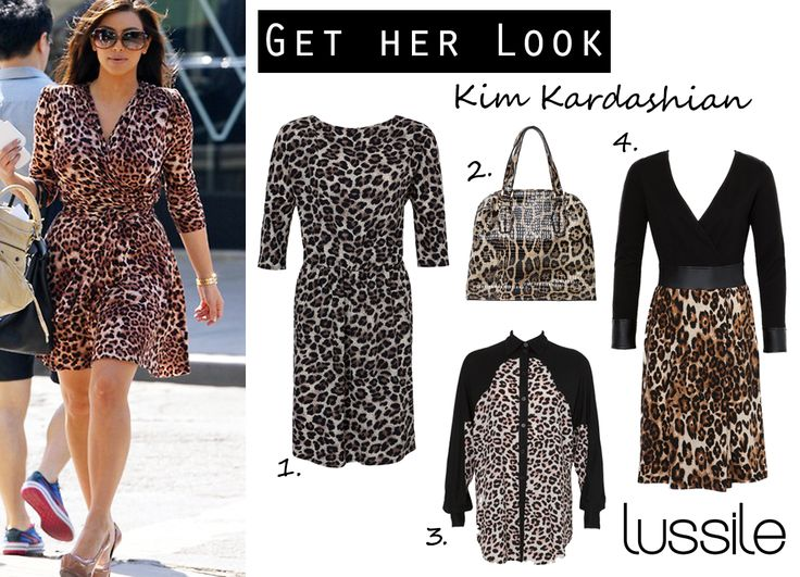 Get Kim Kardashian's Look with Lussile. #kimkardashian #kim #leopardprint #lussile