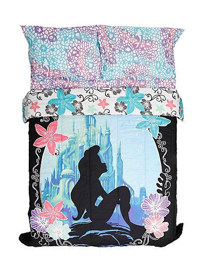 Disney The Little Mermaid Ariel Silhouette Full/Queen ComforterDisney The Little Mermaid Ariel Silhouette Full/Queen Comforter,