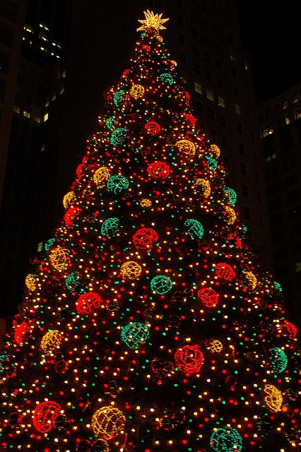 The big Chicago Christmas Tree  Download the Christmas Photo Booth iOS App from Itunes ================>LINK: http://itunes.apple.com/app/id764935420?ls=1&mt=8