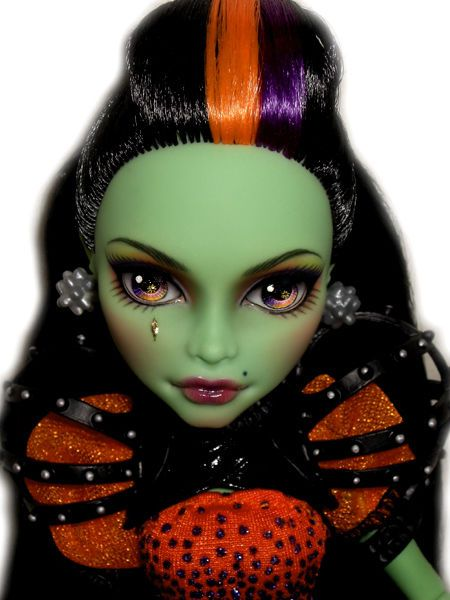 ☠ OOAK custom Monster High doll repaint Casta Fierce witch by custom-dolls