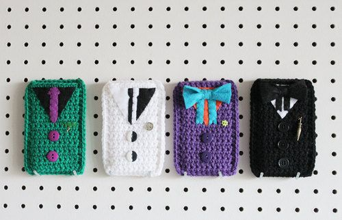 Crochet iPhone and iPod cases inspired by Batman villains