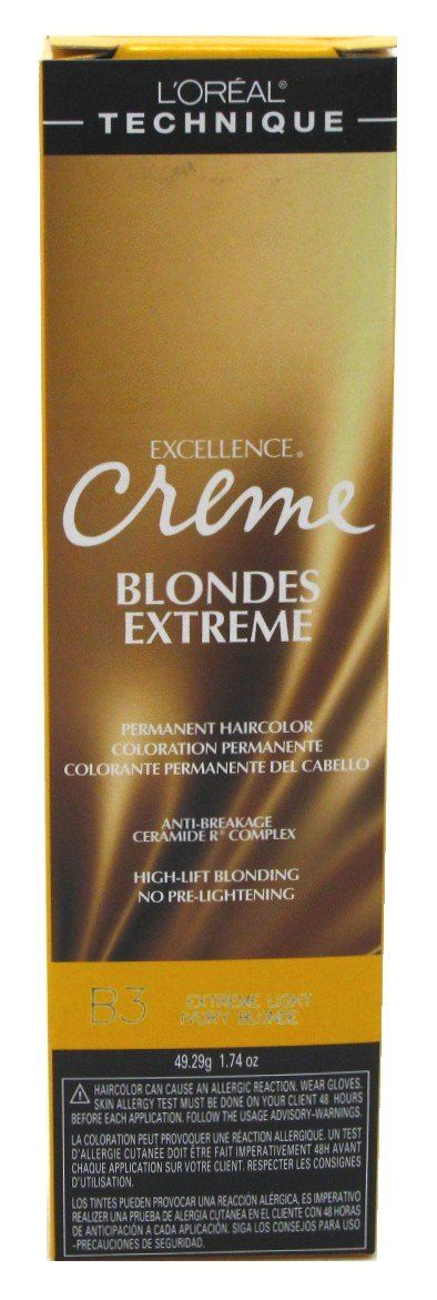 Loreal Excel Creme Extreme #B3 Ivory Blonde (3 Pack). 3 Pieces - 1.74 Ounce (51ml). Brand New!. Packaging May Vary!.