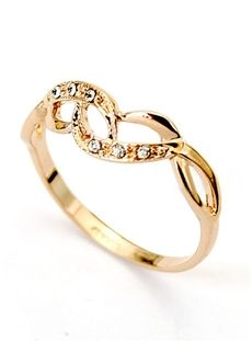 lady high gold z smooth zircon crystal rings romantic item ring quality round pamper white true