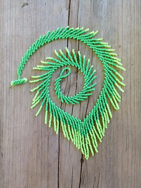 Leaves of Grass Necklace by RareSpecimens on Etsy, $28.00