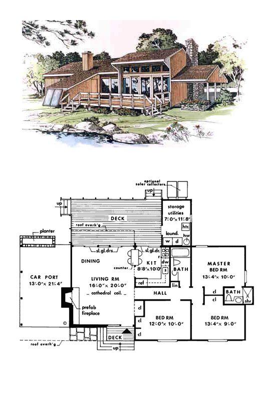 41 best 0 1200 sq ft 3 bd 2 ba images on pinterest for Passive solar cabin design
