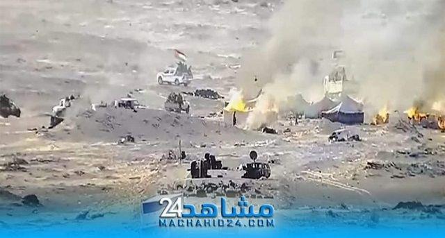 بالصور بلطجية البوليساريو يفرون من الكركرات بعد حرق خيمهم