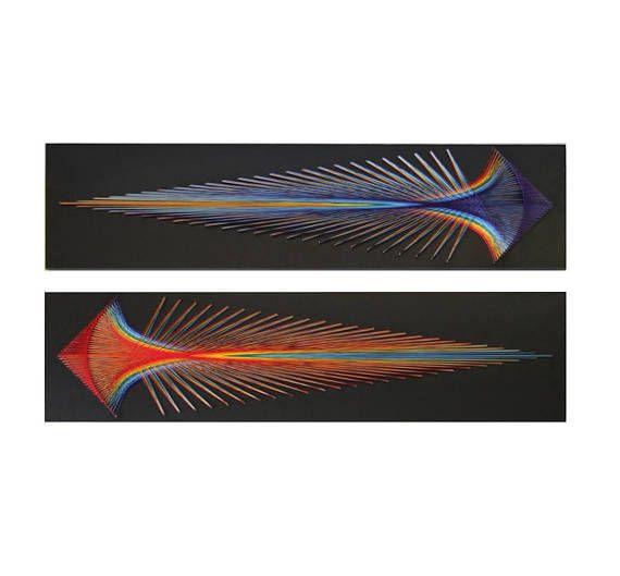 Pfeile von Poseidon Zeichenfolge Kunst Heilige Geometrie psychedelischen Wanddekoration Wandgestaltung Dekor Mandala Zen 3D Kunst, fluoreszierende, Yoga Studio