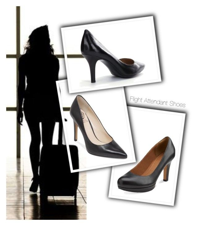 Flight Attendant Shoes by departfashion on Polyvore featuring Clarks and  Vince Camuto