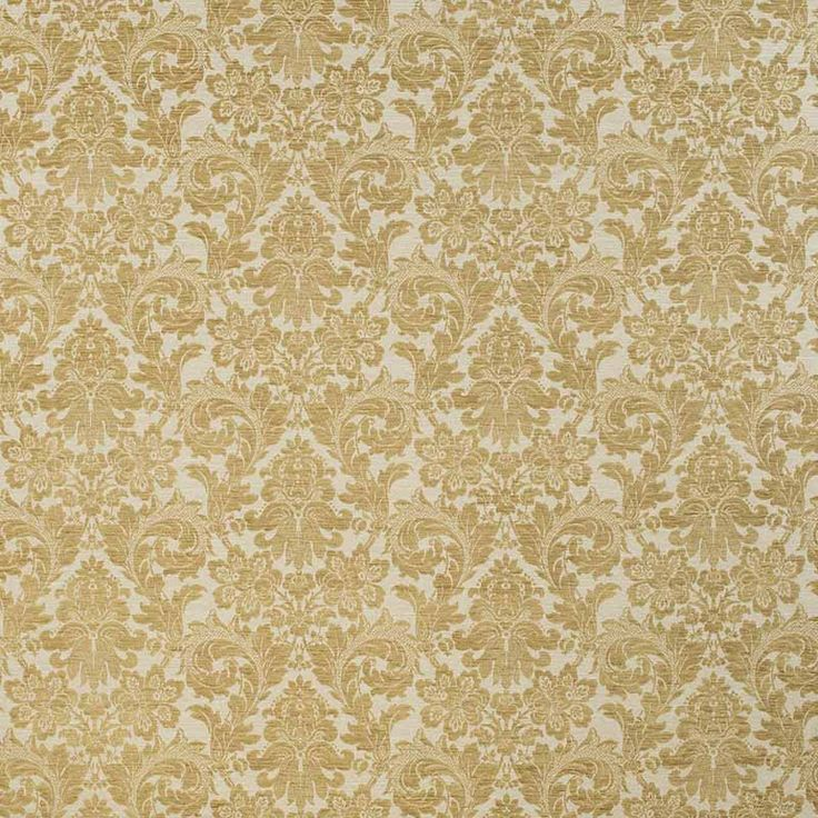 Warwick Fabrics : HEYGATE, Colour GOLD