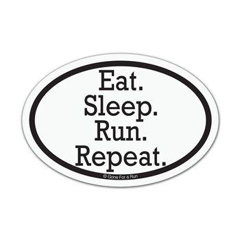 Eat sleep run repeat mini car magnet set of 2 mini running car magnets