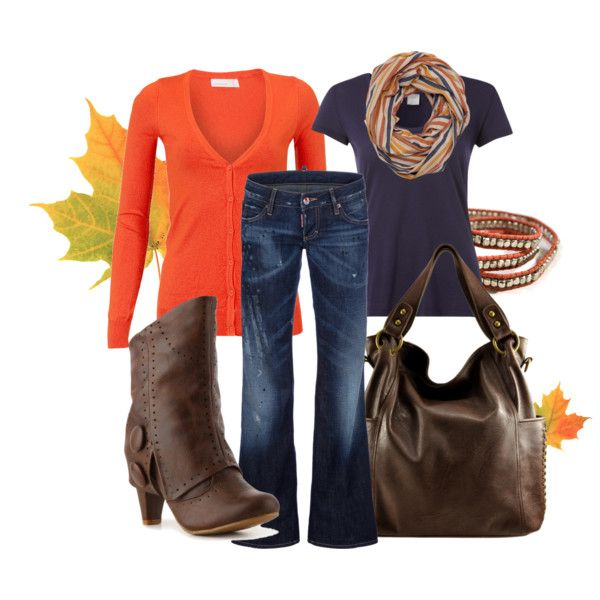 UVA!  Autumn..love Fall colors!: Shoes, Colors Pallets, Autumn Outfits, Style, Fall Colors, Fall Orange, Jeans, Brown Boots, Perfect Fall Outfits