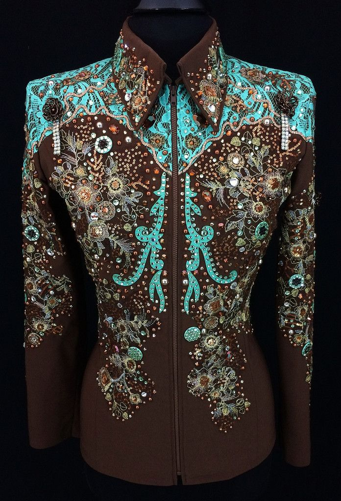 Chocolate and Mint Western Showmanship Suit ~ Just Peachy                                                                                                                                                                                 More