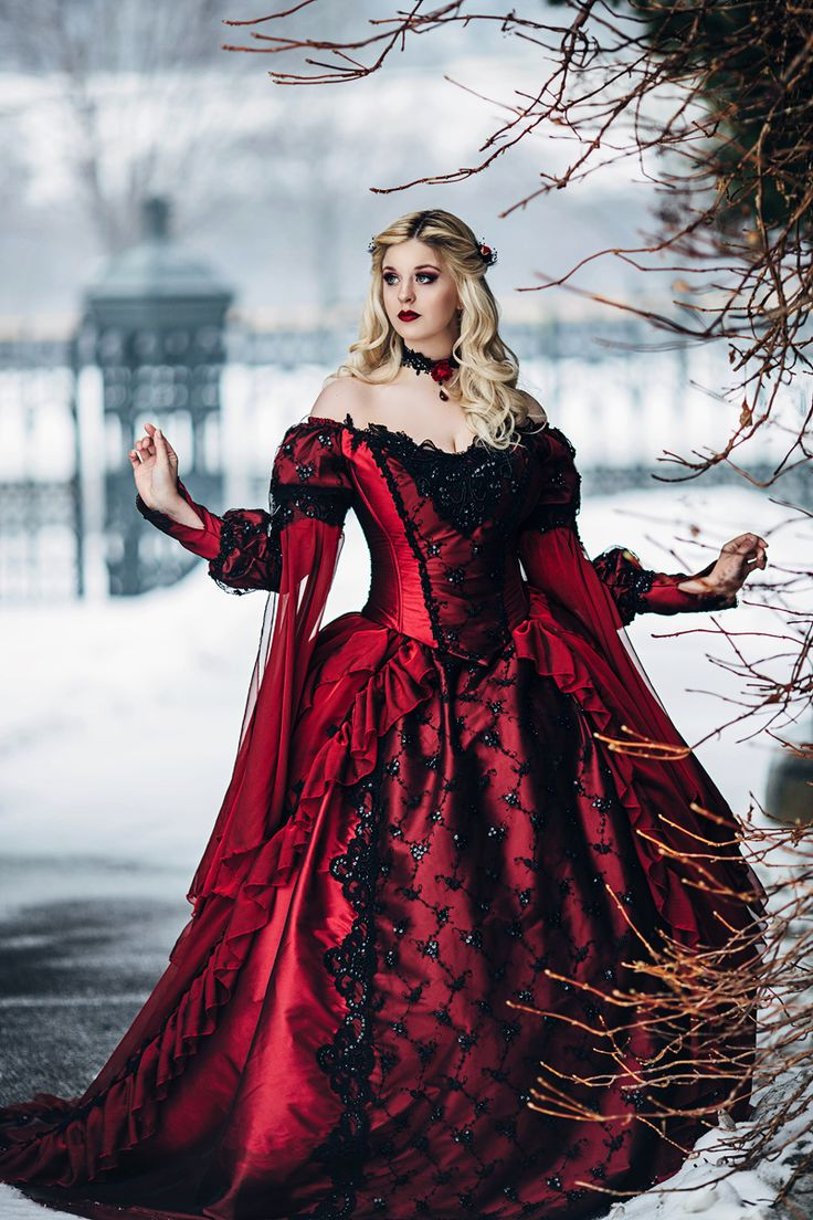 Ai Tenshi Misha Bernadette Newberry Photography Romantic Threads Renaissance Gothic Red Dress