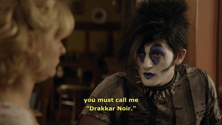 You must call me 'Drakkar Noir' - Jimmy Chance alter-ego on Raising Hope