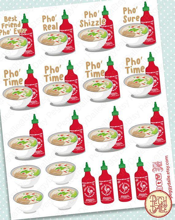 Pho Planner Stickers  Erin Condren  Kikki K  Filofax by PeggyDalle