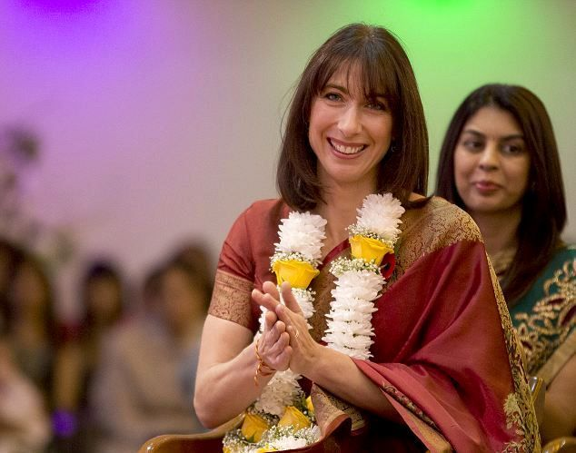 Colourful Diwali celebrations in London with David Cameron and Samantha Cameron -