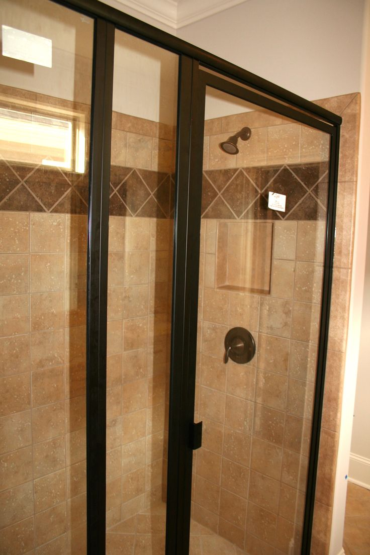 Shower Surrond Oil Rubbed Bronze Clear Glass Standard
