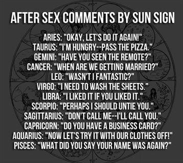 Sun Sign Sex Libra+Scorpio. I dont criticize and he's kinky! Lol