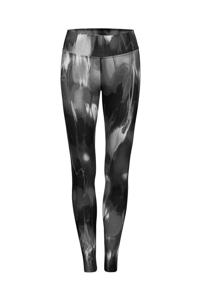 Midnight Smoke Printed Yoga Legging - Full Length – Dharma Bums Yoga and Activewear