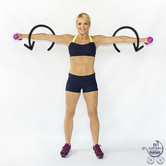 Brooke Griffin from the fab site Skinny Mom shares her six moves to strong arms. And we all know moms need those! | Fit Bottomed Mamas