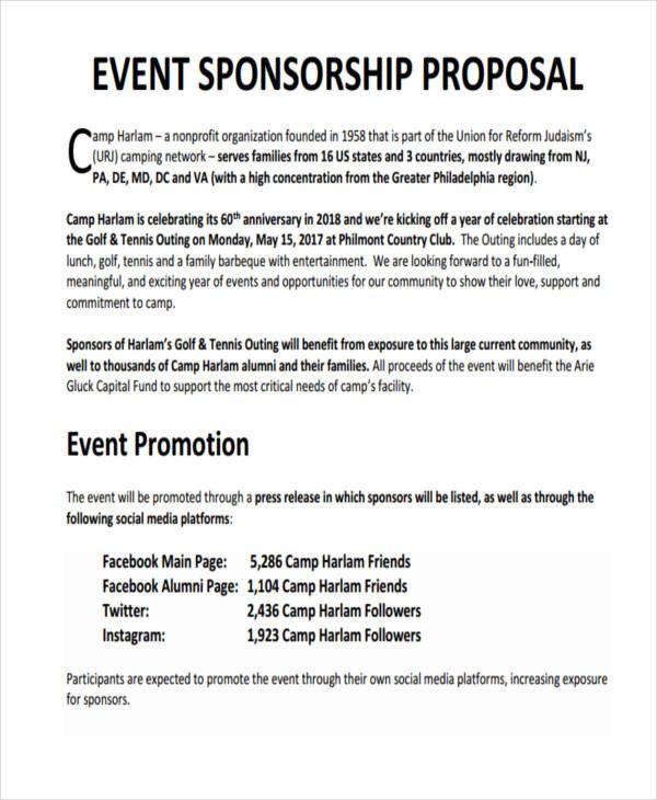 Event Sponsorship Proposal Template Sponsorship Letter Event Proposal Template Sponsorship Proposal