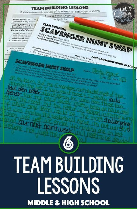 Team Work Building and Problem Solving Activity Lessons - great for middle or high school Leadership class!