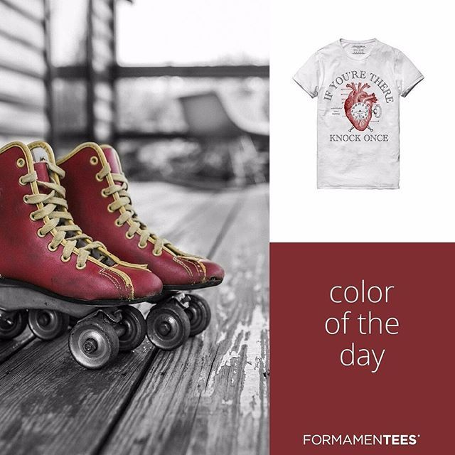 Today it's the color of the heart! #heart #vintage #love #romantic #colors #coloroftheday #style #creative #art