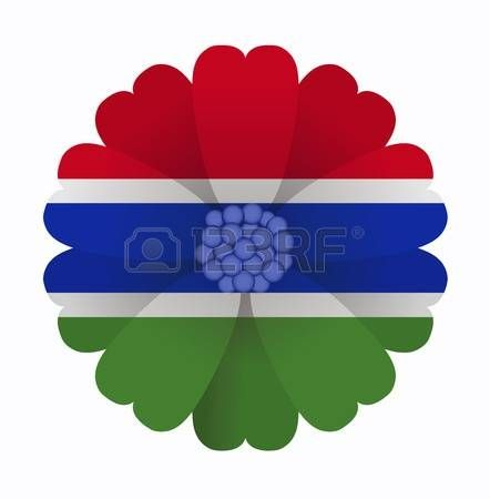 illustration of flower Flag Gambia photo