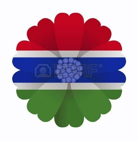 illustration of flower Flag Gambia photo