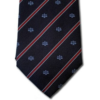 Libra - Blue pure silk tie with zodiac sign and contrasting stipe, easy to match