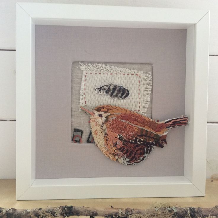 Jenny Wren. Hand embroidered.  www.violetshirran.com