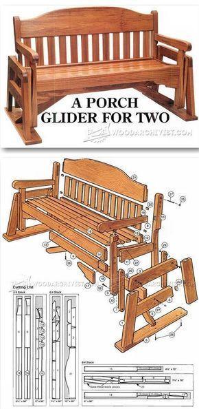 Porch Glider Plans - Outdoor Furniture Plans & Projects   http://WoodArchivist.com