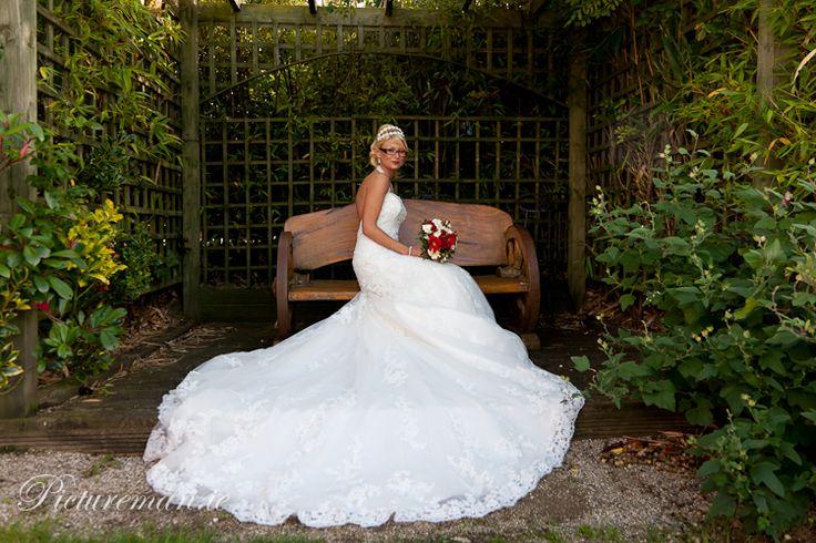 A gorgeous shot in our Garden Gazebo showcasing Elaine's amazing dress #realwedding