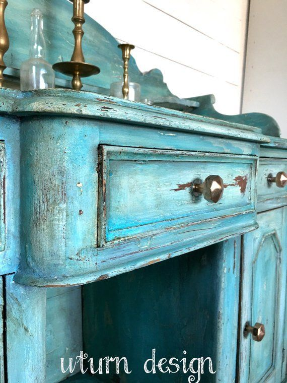Sold Sold Turquoise Painted Buffet Teal Farmhouse Painted Buffet Turquoise Painting Turquoise Furniture