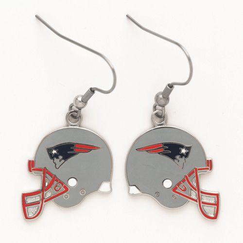 New England Patriots Helmet Dangle Earrings - Sunset Key Chains