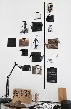 work space wall moodboard by ester