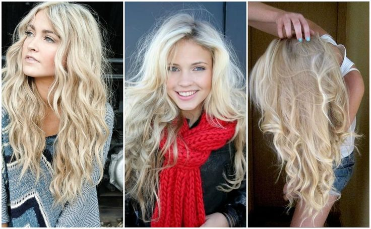 The perfect light blonde shade! | platinum | long | highlights | low lights | hair | style | curly | wavy | beautiful