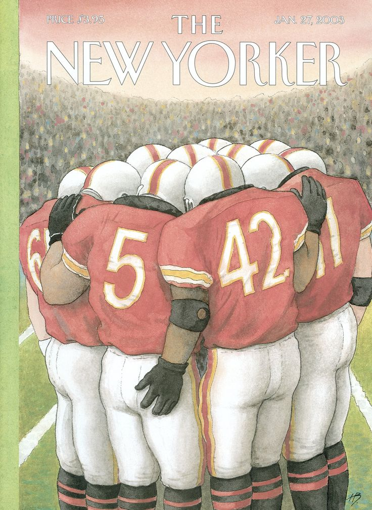 "The New Yorker - Monday, January 27, 2003 - Issue # 4015 - Vol. 78 - N° 44 - Cover ""Lateral Pass"" by Harry Bliss"