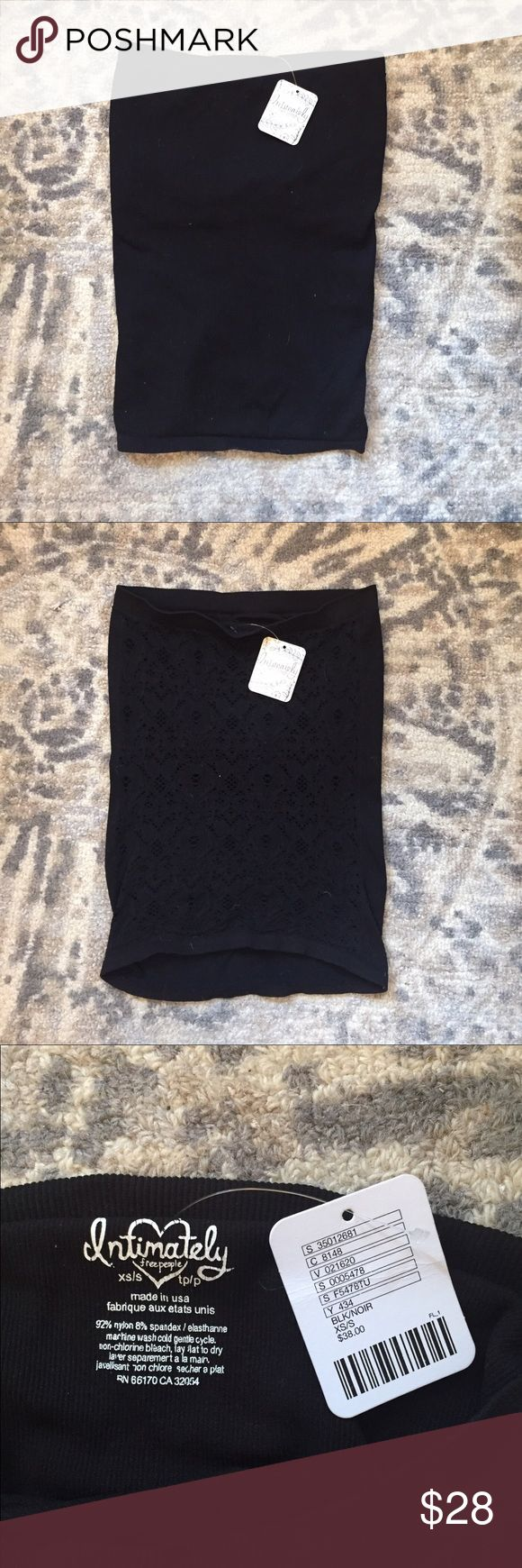 NWT Bandeau Top FREE PEOPLE. Brand new bandeau top with lace-like detail on one side. Accepting offers! Free People Intimates & Sleepwear Bandeaus