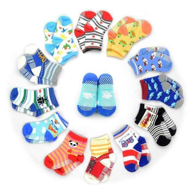 These non-skid socks your toddler can wear without falling down.