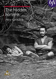 The Hidden Fortress (Japan, 1958) directed by Akira Kurosawa and starring Toshirō Mifune and Misa Uehara. Lured by gold, two greedy peasants escort a man and woman across enemy lines. However, they do not realize that their companions are actually a princess and her general.